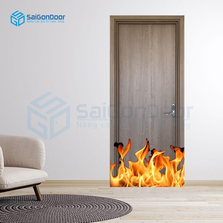 Cửa gỗ chống cháy khách sạn MDF Laminate P1