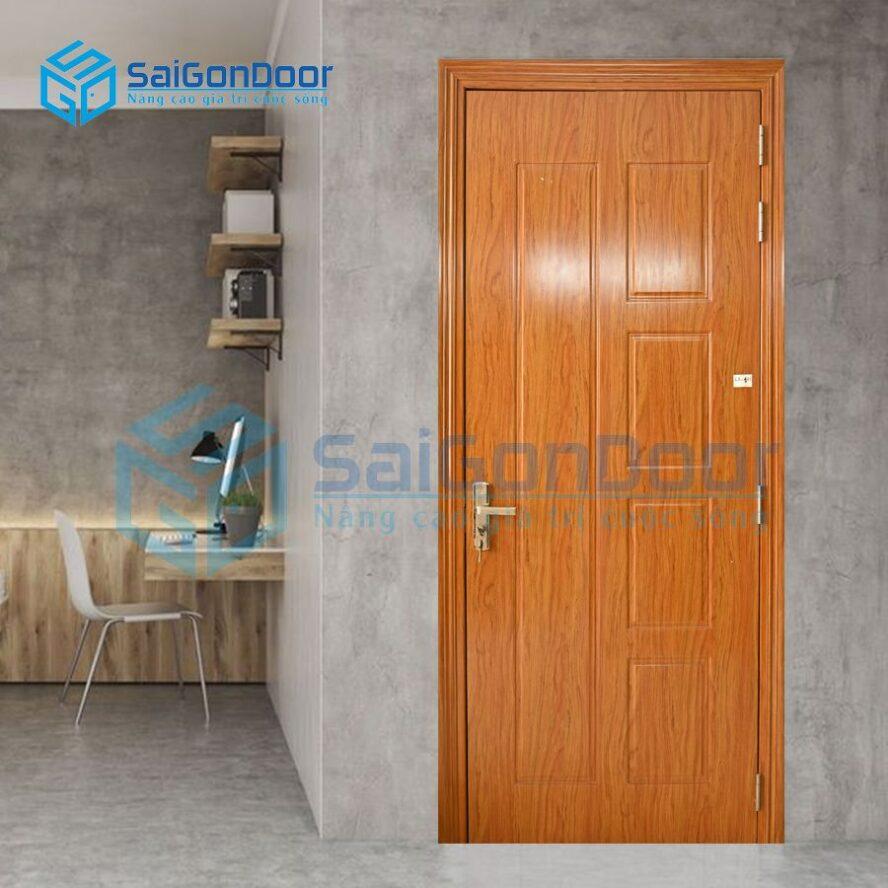 Cửa nhựa vân gỗ văn phòng LX.141-LX2