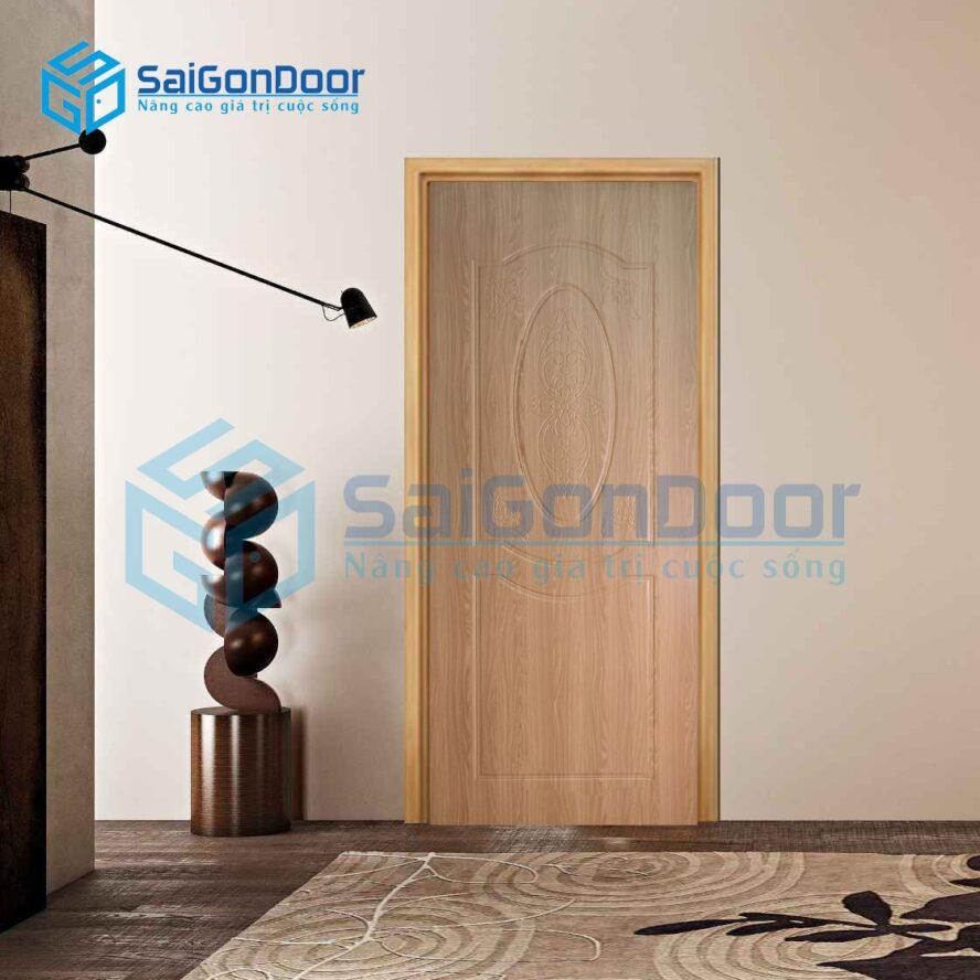 Cửa nhựa vân gỗ sang trọng cách âm SYB.243-B02