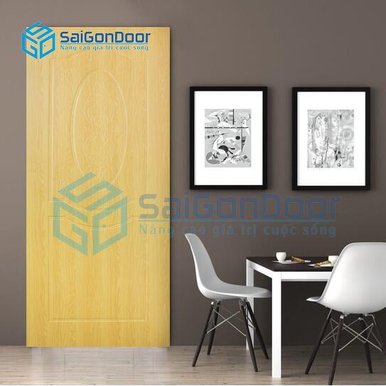 Cửa nhựa vân gỗ chống nước phòng khách SYB.243-B06