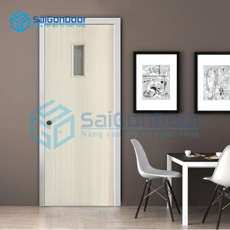 Cửa nhựa vân gỗ phòng khách SYB.3R1G-B01