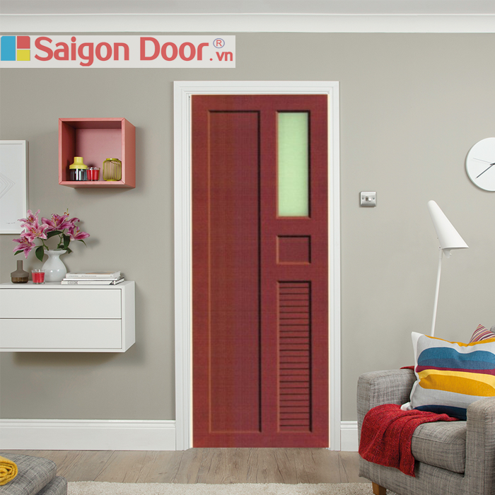 Cửa nhựa thông phòng do SaiGonDoor thi công đảm bảo đẹp, bền, hợp phong thủy